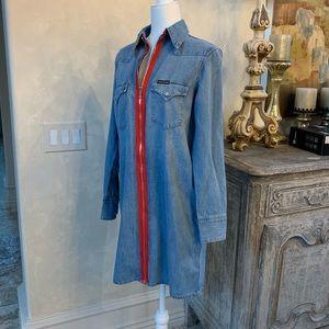 NWT! Calvin Klein Denim Dress Apache Shirting